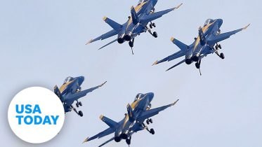 U.S. Navy Blue Angels and Air Force Thunderbirds fly over New York City | USA TODAY 3