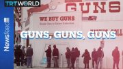 The link between the spread of COVID-19 and increased gun sales. 2