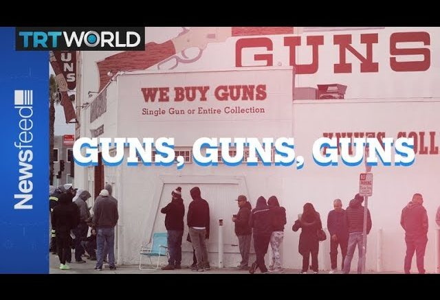 The link between the spread of COVID-19 and increased gun sales. 1