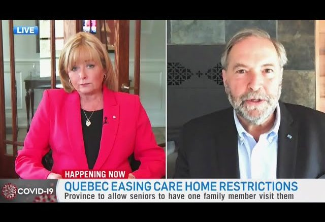 Mulcair critical of Premier Legault's plans to reopen Quebec as COVID-19 outbreak continues 1