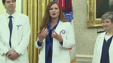 Trump contradicts nurse over PPE availability during White House event honouring health-care workers 6