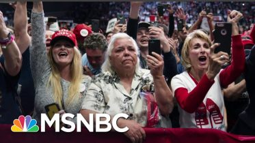 'Magically Protected': Why Hardcore Trump Supporters Won't Wear Masks At Rally | All In | MSNBC 6