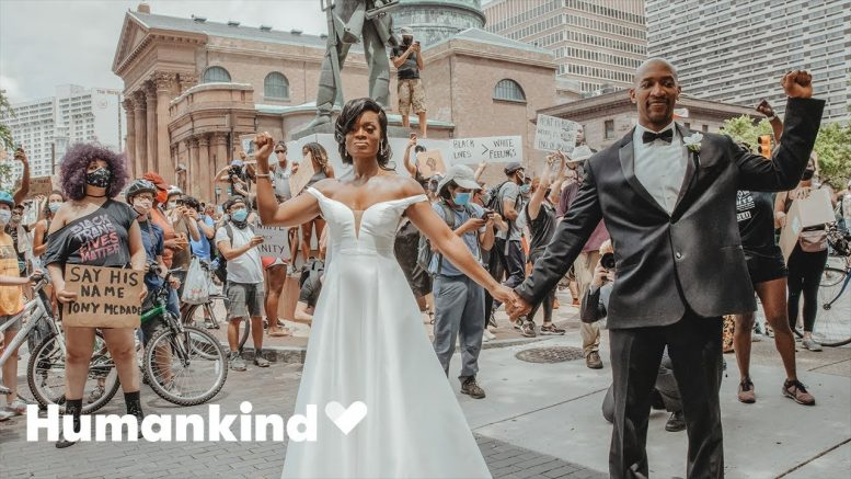Bride and groom share how they ended up in a protest | Humankind 1