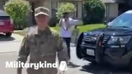 Son surprises father at retirement parade | Militarykind 9