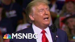 During Rally, Trump Talks About Ramp Walk, Drinking Water | Morning Joe | MSNBC 4