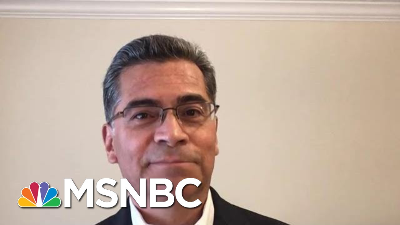 'Recent Convert:' California AG Pushes Back On Policing Reform Record | MTP Daily | MSNBC 6