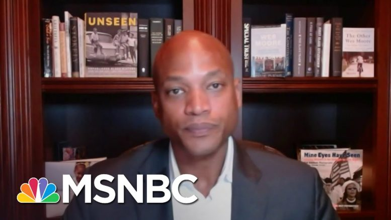 Wes Moore: Statues 'Celebrate' History That 'Shouldn't Be Celebrated' | Andrea Mitchell | MSNBC 1
