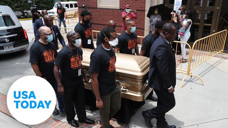 Public viewing for Rayshard Brooks held in Atlanta   USA TODAY 1