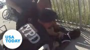 NYPD officer suspended without pay after 'apparent chokehold' | USA TODAY 3