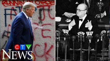 White House press secretary compares Donald Trump's protest response to Winston Churchill 6