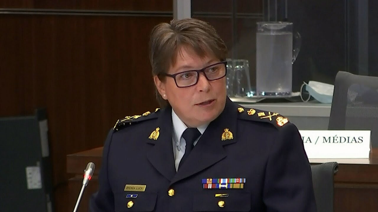 What does Brenda Lucki's answer for examples of systemic racism in RCMP say about the commissioner? 5