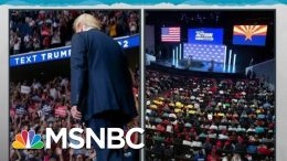 Trump Makes Himself Lone Exception With COVID-19 Risking Crowds | Rachel Maddow | MSNBC 4