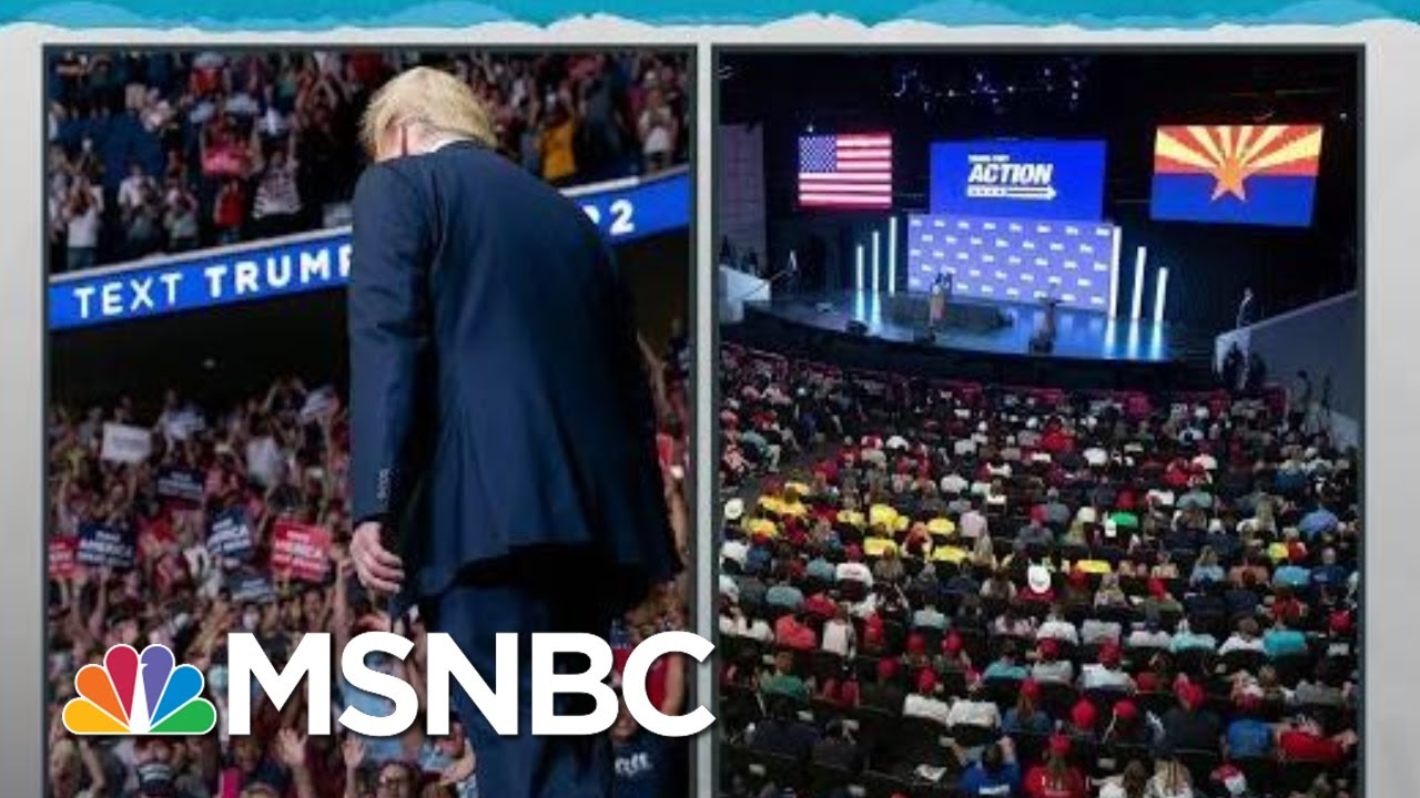 Trump Makes Himself Lone Exception With COVID-19 Risking Crowds   Rachel Maddow   MSNBC 1