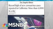 Rising Hospitalizations Expose Fallacy Of Testing-Driven Surge in COVID-19 | Rachel Maddow | MSNBC 3