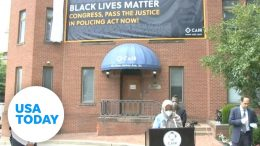 CAIR unveils Black Lives Matter banner in honor of George Floyd | USA TODAY 5