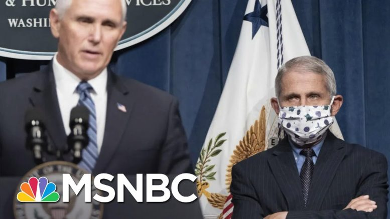 Pence Won't Wear Or Even Say 'Face Mask' During Latest COVID-19 Briefing | The 11th Hour | MSNBC 1