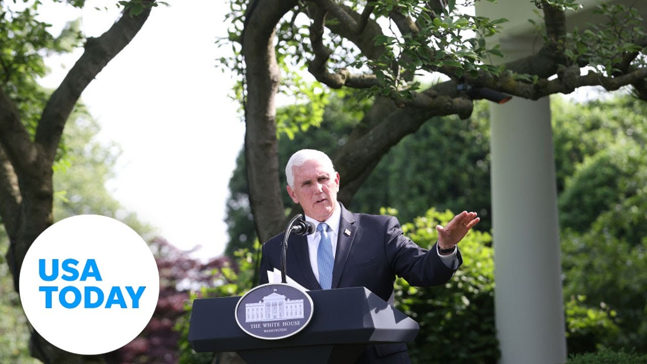 Vice President Pence holds coronavirus task force briefing | USA TODAY 8