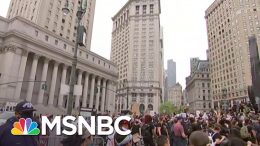 Protesters Gather For Protest Near NYC's Police Headquarters | MSNBC 1