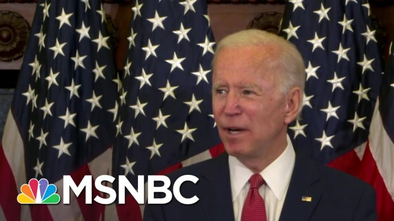 Biden: Trump 'Must Be Part Of The Solution, Not The Problem' | MSNBC 1