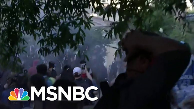 Protesters Forced Out Of Park Near White House Before Trump Visits Church   MSNBC 1