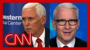 See Anderson Cooper's reaction to Mike Pence using the 'm-word' 2