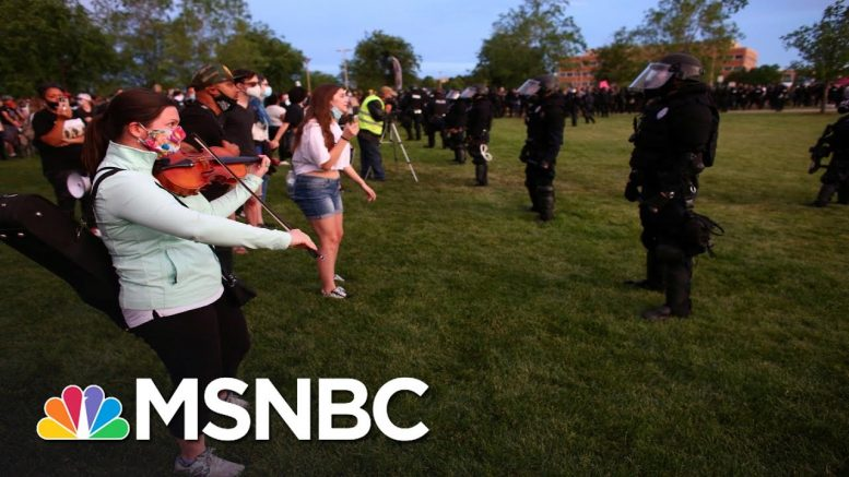 Riot Police Confront Peaceful Violin Vigil For Elijah McClain With Pepper Spray | All In | MSNBC 1