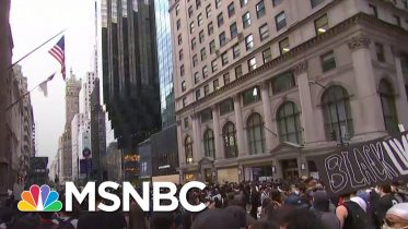 New York Protestors March Towards President Donald Trump Tower | MSNBC 6