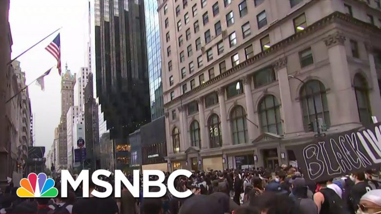 New York Protestors March Towards President Donald Trump Tower | MSNBC 1