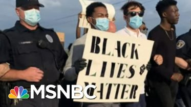 17-Year-Old Organizes Huge Protest, Police Chief Joins In | The Last Word | MSNBC 6