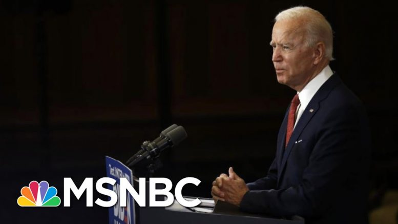 Joe Biden Hits Trump, Vows Not To 'Fan The Flames' Of Racial Division | The 11th Hour | MSNBC 1