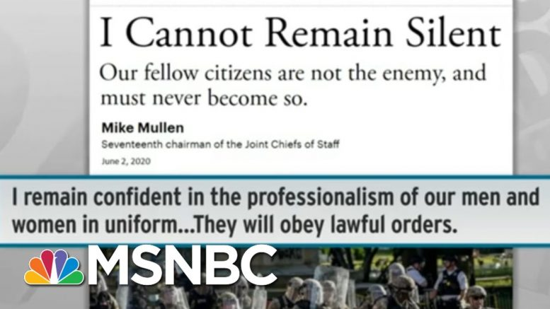 Heavy Criticism For Trump's Hazy Idea To Use Military On US Soil | Rachel Maddow | MSNBC 1
