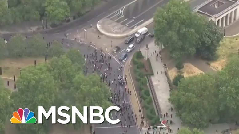 Crowd Gathers In London's Hyde Park Over George Floyd's Death | Stephanie Ruhle | MSNBC 1