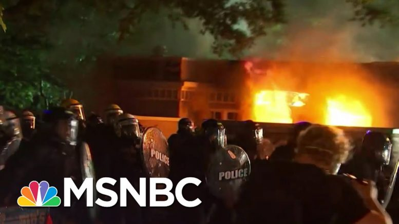 Fire Breaks Out At Lafayette Park Near White House | MSNBC 1