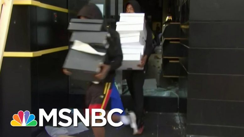 Chaos Erupts As Police Descend On Looters In Santa Monica | MSNBC 1