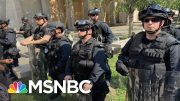Armed Troops Remain At DC Protest After More Charges In Floyd's Death | The 11th Hour | MSNBC 3