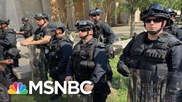 Armed Troops Remain At DC Protest After More Charges In Floyd's Death | The 11th Hour | MSNBC 10