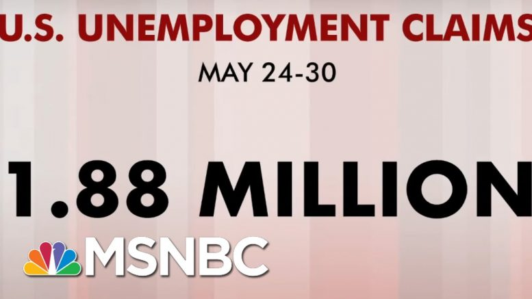 Additional 1.88 Million People File For Unemployment, Matching Expectations | Morning Joe | MSNBC 1