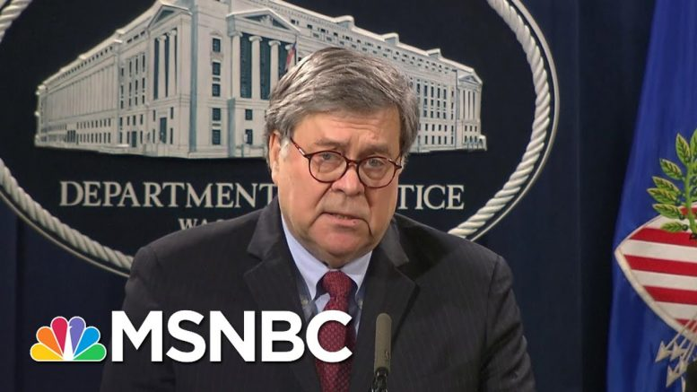 Barr: We Will Work To Ensure 'Racism Plays No Part In Law Enforcement' | MSNBC 1