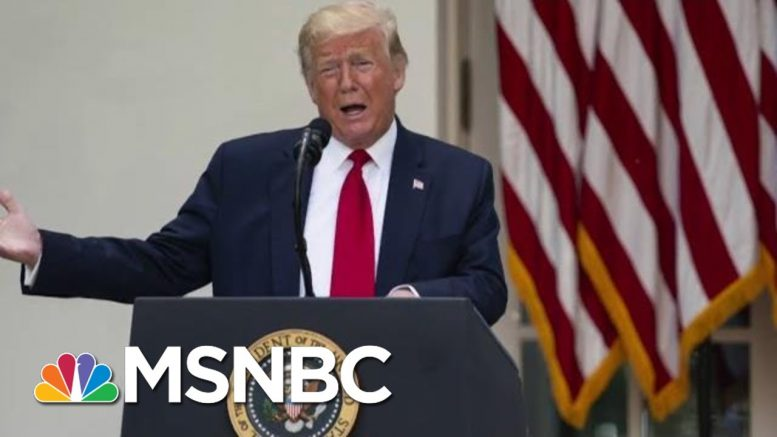 Amid Weekend Protests, Trump Stays Largely Silent | Morning Joe | MSNBC 1