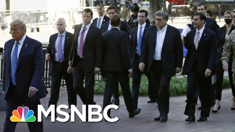 An Unprecedented Rebuke Of Trump's Response To Protests | Deadline | MSNBC 1