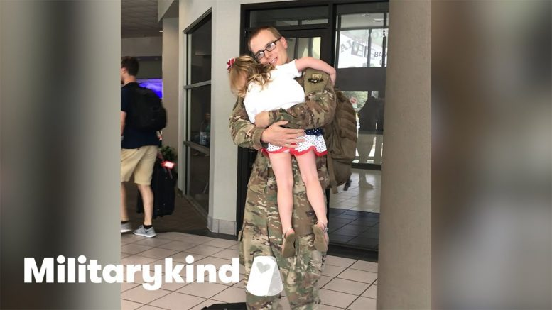Daddy's girl tricked into homecoming surprise | Humankind 1