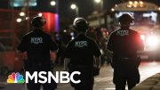 Massive Police Presence In New York To Enforce Citywide Curfew | The 11th Hour | MSNBC 4