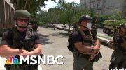 Unidentified, Armed Federal Troops Raise Accountability Concerns   Rachel Maddow   MSNBC 5