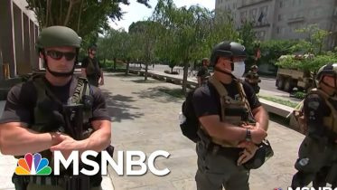 Unidentified, Armed Federal Troops Raise Accountability Concerns | Rachel Maddow | MSNBC 6