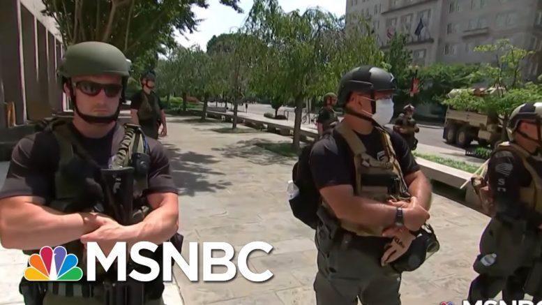 Unidentified, Armed Federal Troops Raise Accountability Concerns | Rachel Maddow | MSNBC 1