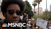 LA Protestors: 'Looking For The Resignation Of Mayor Garcetti' | MTP Daily | MSNBC 2