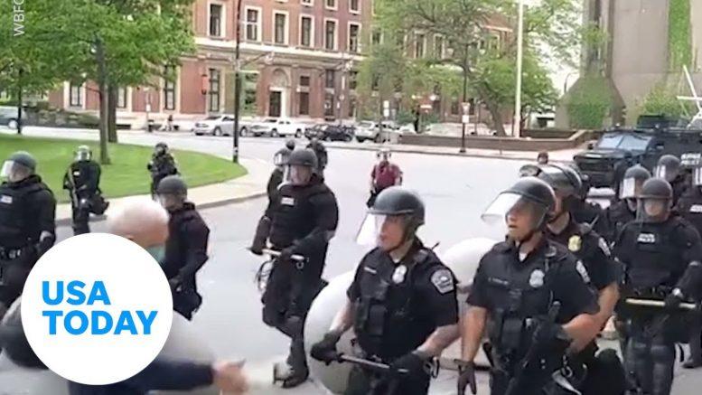 Police seen shoving elderly man to ground | USA TODAY 1