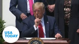 President Trump shushes reporters' questions as he praises job numbers   USA TODAY 2