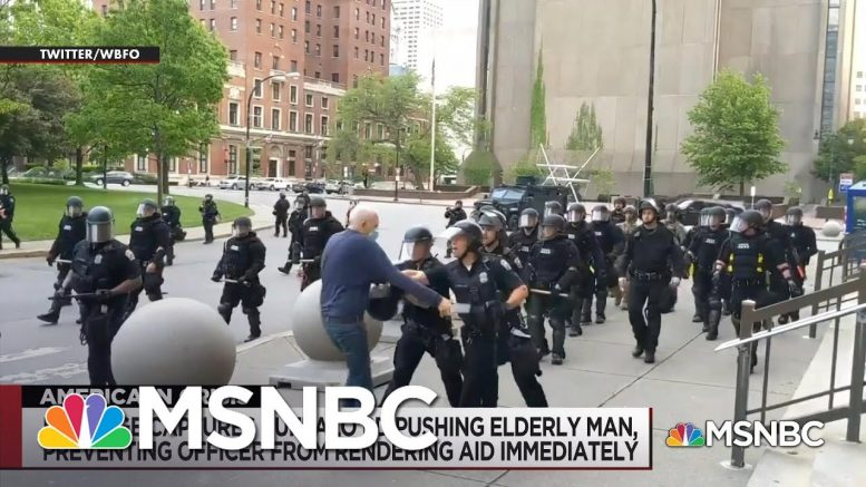 Police Brutality Plagues Protests Against Police Brutality | The Day That Was | MSNBC 1