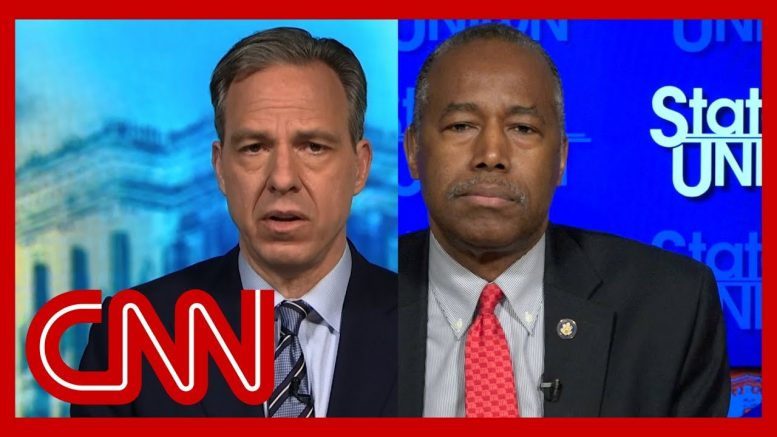 Tapper presses Ben Carson on Trump's retweet about George Floyd 1